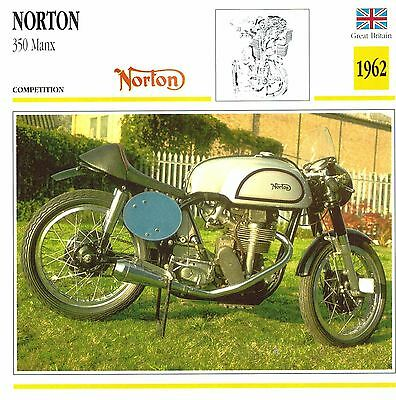 Moto Passion Motorcycle Card D2 000 42-05 Great Britain Norton 350 Manx 1962