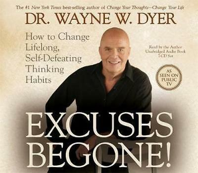 NEW Excuses Begone! By Wayne W. Dyer Audio CD Free Shipping