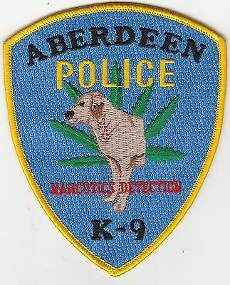 Aberdeen Police Narcotics Detection K-9 Patch Maryland Md Canine Dog K9