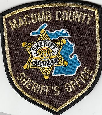 Macomb County Sheriff's Office Michigan Mi Police Patch