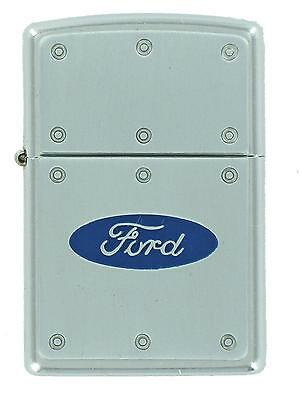 Zippo Lighter, Ford Riveted Blue Oval 20295, Sealed, Street Chrome * NIB * NOS**