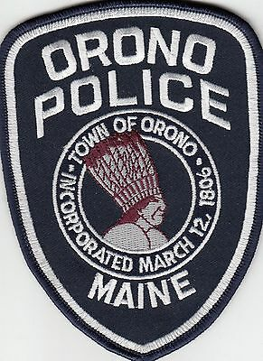 Orono Police Shoulder Patch Maine Me Indian