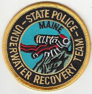 Maine State Police Underwater Recovery Team Patch Me