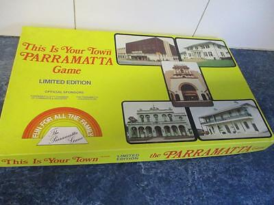 Vintage PARRAMATTA This is Your Town Board Game Limited Edition Rare 1983 Oz