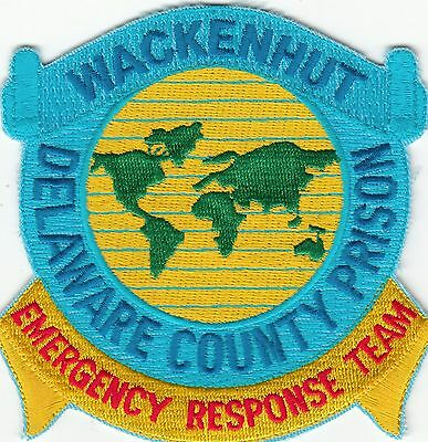 Wackenhut Delaware County Prison Emergency Response Team Patch De Police Old
