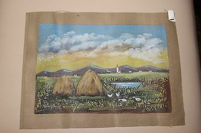 Needlepoint Tapestry Canvas - Country Landscape - 30 x 40cm NEW.