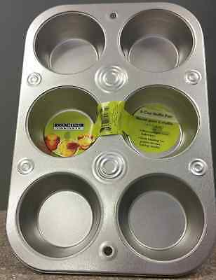 6 Cup Muffin Cooking Pan Heavyweight Steel Bakeware Baking  Cupcakes cup cake