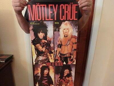 Motley Crue vintage Promo Poster Shout at The Devil 15x35 USED condition