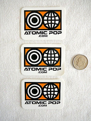 Lot ATOMIC POP Record Labels OOB ADVERTISING STICKERS Los Angeles RARE 2001