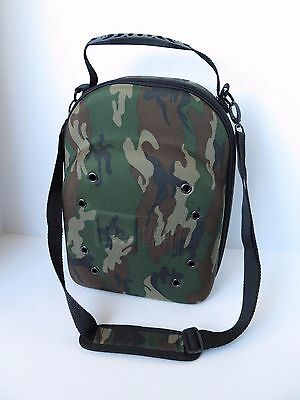 New Era 6 Cap Hat Carrier Camouflage Camo Hard Case Travel Zip Handle