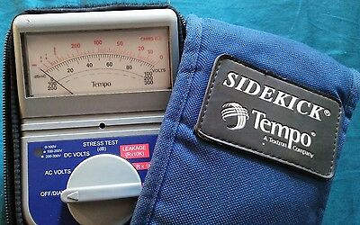 Tempo 7B Sidekick Telephone Cable Tester-Cable Stress Tester W/case Tested/works
