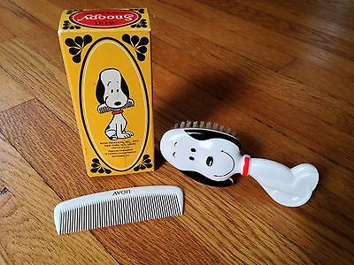 Vintage Avon Products Snoopy Comb and Brush Set with box, Peanuts, 1970, EUC