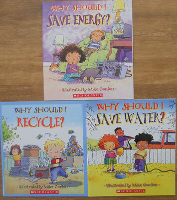 Why Should I Bulk Book Pack - 3 New Picture Books - Water Energy Recycle 4+