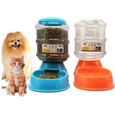 Large Automatic 3.5L Food Water Feeder Drinking Bowl Dispenser for Dog Cat