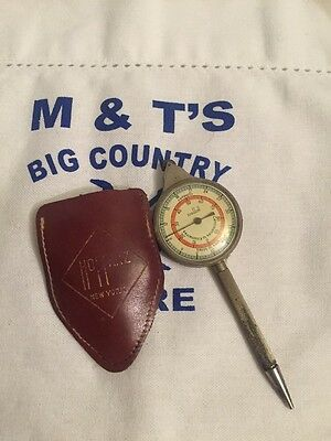 Vintage Hoffritz Compass and Map Mileage Converter with Pencil and Leather Case