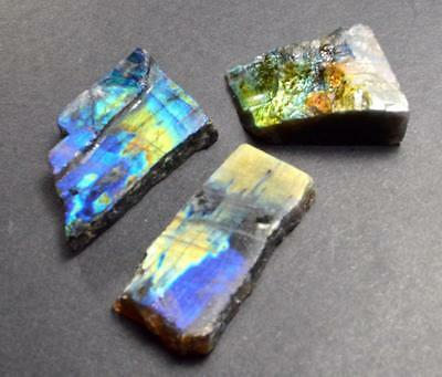 93.90ct Lot of 3 Finnish Spectrolite Labradorite From Finland Lapidary Rough