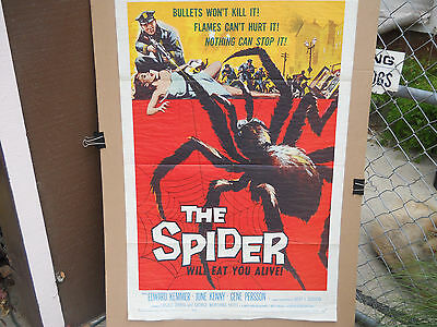 The Spider * Orig 1958 One Sheet (27X41) Big Ass Spider Rips It Up