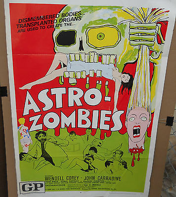 Astro Zombies * Orig1968 Folded One Sheet(27X41) From Old Dead Bodies They Come