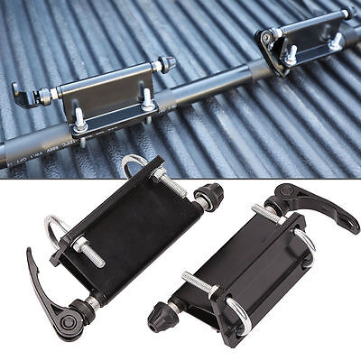 2XCar Pickup Bed Alloy Bicycle Block Quick Release Fork Mount Carrier Holder Kit