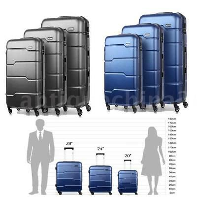 "3 Piece Nested Spinner Luggage Set 20""/24""/28"" PC + ABS Back to School / Travel"