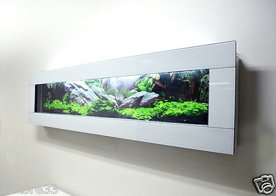 Fishtank Modern New White Wall Aquarium 6 Ft Fish Tank