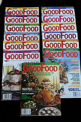BBC GOOD FOOD magazines 13 copies 1993 January - December Plus Christmas special