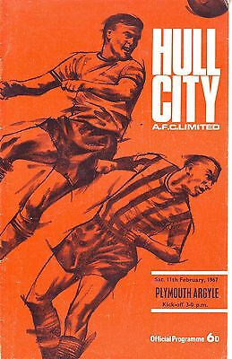 HULL CITY V BRIGHTON 5 FEB 1966 at BOOTHFERRY PARK 50 YEARS AGO! VGC