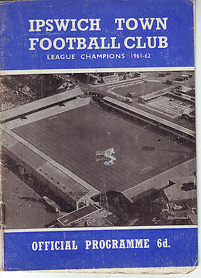 Ipswich Town V Portsmouth 25 March 1967 Vgc