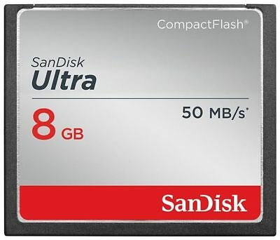 SanDisk 8GB Ultra CompactFlash Compact Flash 50MB/s CF Camera Memory Card 8G