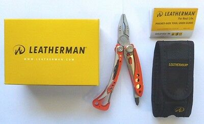 Leatherman Skeletool RX Multi Tool Knife Rescue Orange + Nylon Sheath Free Post