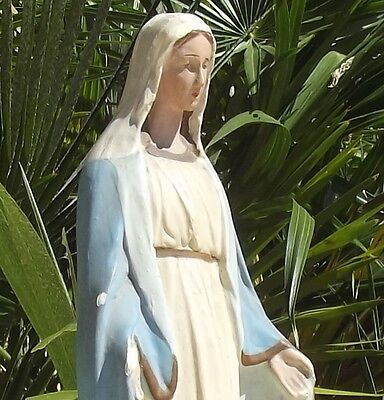 Vintage French Statue Virgin Mary Madonna Our Lady Mother Miraculous Mary