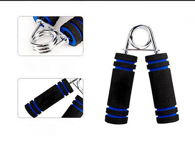 Blue Arm Exercise Wrist Fitness Strength Training Hand Grippers Forearm Gym Foam