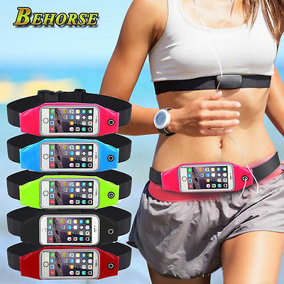 Waterproof Sport Running Gym Waist Belt Bag Cover Touch Case For Phone Samsung