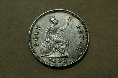 1888 silver groat , fourpence (4)