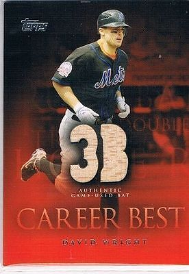 2009 Topps Career Best Relics #DW David Wright Bat A1