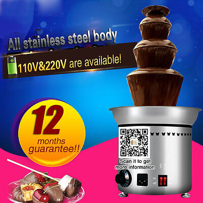 free DHL shipping,stainless steel electric chocolate fountain machine,4 layers