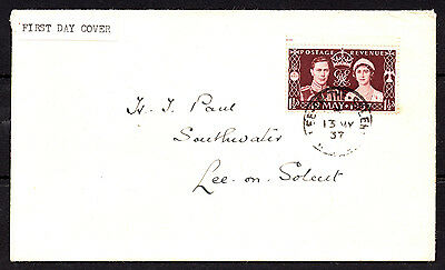 GB KGVI 1937 SG461 1-1/2d Maroon Coronation First Day Cover Envelope