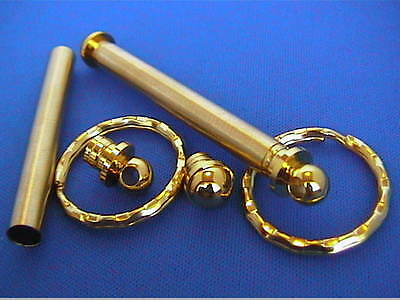 Woodturning Lathe Keyring Kits x 5 - Gold/Chrome/Gun Metal