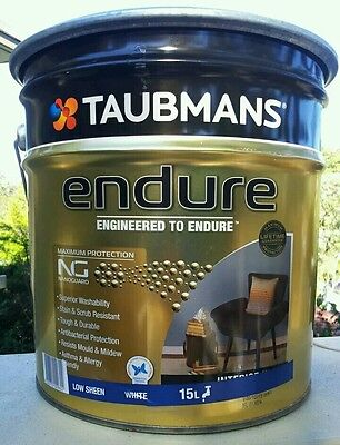 SOLD OUT! 15L TAUBMANS ENDURE Interior Low Sheen Wall Paint with Anti-mould