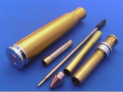 Woodturning Pen Kits - .50 Cal Twist Pen Gold/Chrome/Gun Metal x1/ x3 /or Bushes
