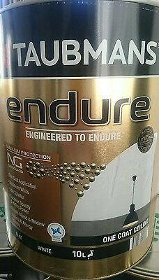 OUT OF STOCK! 10L TAUBMANS ENDURE Interior Ceiling Paint Anti-mould RP$153