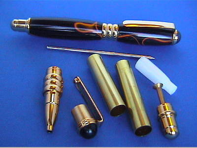 Woodturning Lathe PURSE PEN kit x 1/x5 - Gold/Chrome/Gun Metal/or Bushes
