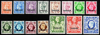 Morocco Agencies Tangier KGVI 1949 SG261/275 Set of 15 Mint stamps - MM