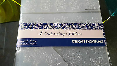 2 x 4 TATTERED LACE EMBOSSING FOLDERS - DELICATE SNOWFLAKE & WINTER WISHES
