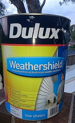 SAVE $36! 10L DULUX WEATHERSHIELD Exterior  Paint! White Low Sheen &Gloss RP$163