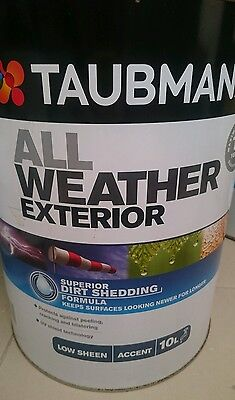 Save $41! 10L Taubmans All Weather Exterior Paint RP$160 All Sheens and Colours!