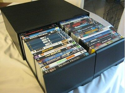 40 Dvd Storage Stackable Drawer Cabinets - Black - These Are Very Rare - Vgc