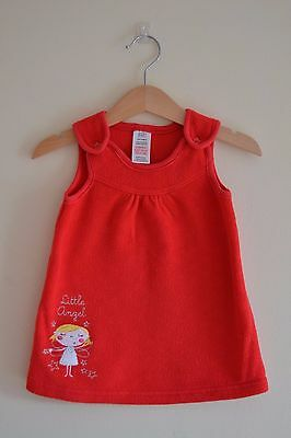 Red Fleece Baby Girls Dress 3-6 months - Cheap postage is available at £1.50