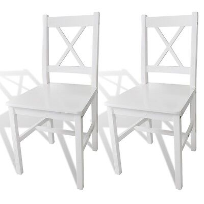 S#2 pcs White Wood Dinning Chair