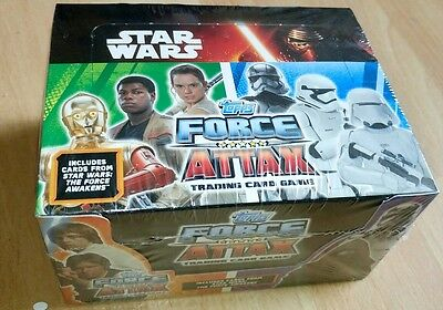 topps force attax cards boxed sealed not opened